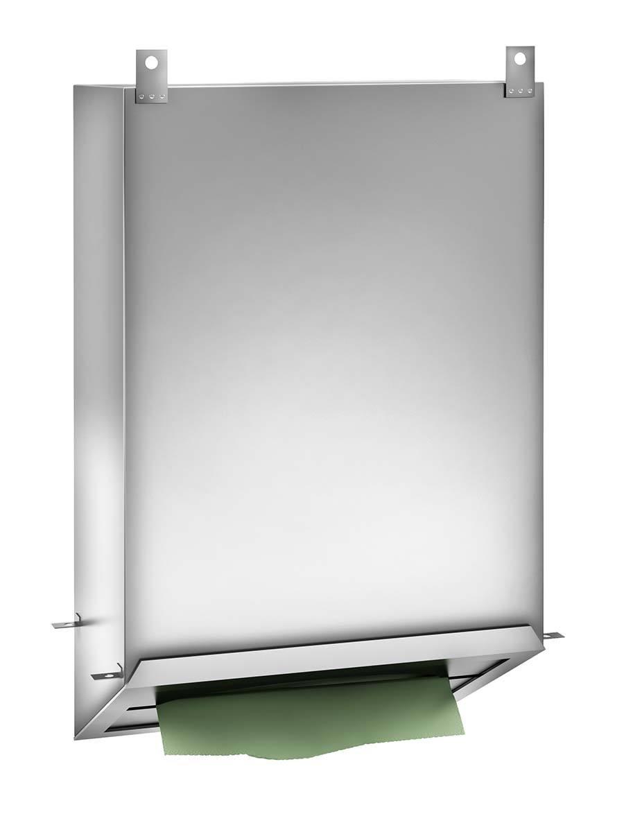 behind paper mirror dispenser